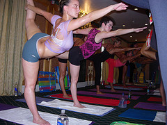 standing bow pulling pose of bikram yoga