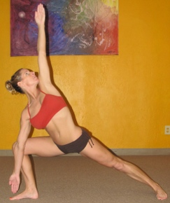 triangle pose of bikram yoga